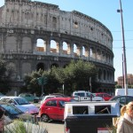 Colosseum and Roman traffic