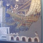 Mosaic of trading ship  in the Curia