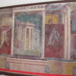 Painted wall panel from Pompeii