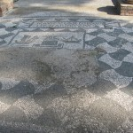 Mosaic in shop floors, Square of the Corporations