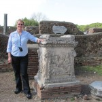 Self with (copy of) altar of Romulus and Remus
