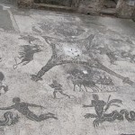 Floor mosaic in the baths of the coachmen