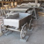 Replica cart made from impression of buried one