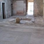 Mosaic floor and impluvium