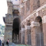 Teatro Marcello - A sideways view