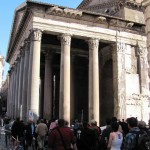 Pantheopn - First built by Agrippa in 27BC, rebuilt after the fire by Hadrian AD 126