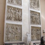Panels, including Trajan welcoming Hercules