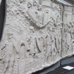 Plaster cast of panel from Trajan's column