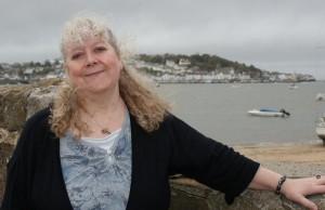 Helen Hollick at Instow, North Devon (photo Bideford People News)