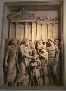 Marcus Aurelius as pious father of his people