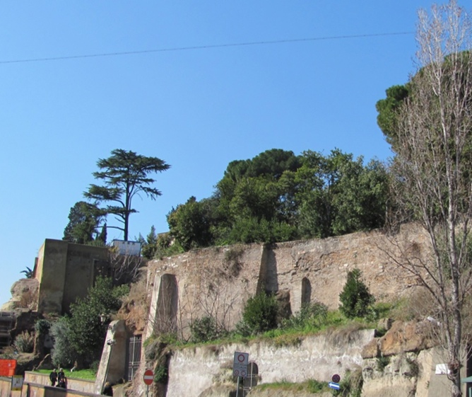Tarpeian Rock, site of execution of traitors in Ancient Rome