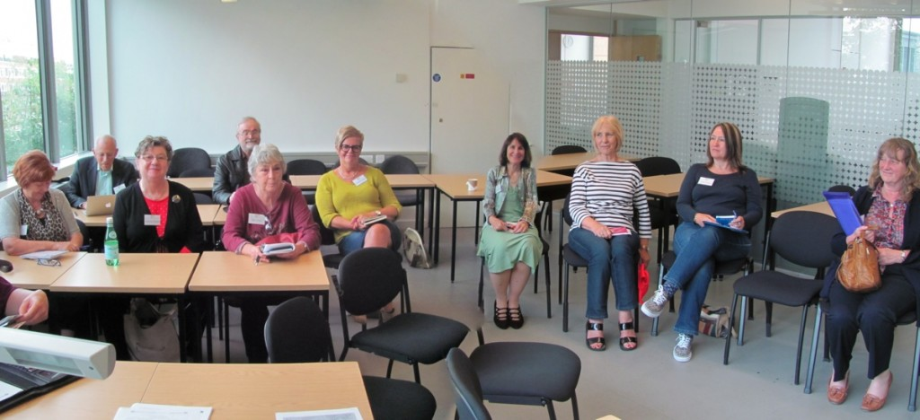 Our workshop group who enjoyed hearing about social media for writers.