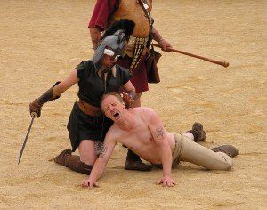 Violence as entertainment - Chester Roman Festival, 2011