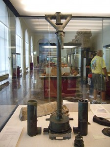Portable Roman fire engine nozzle, Madrid Museum (Creative Commons)