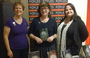 With Debbie Young and Liesel Schwarz at Foyles