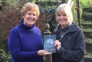 Alison with Ruth Downie