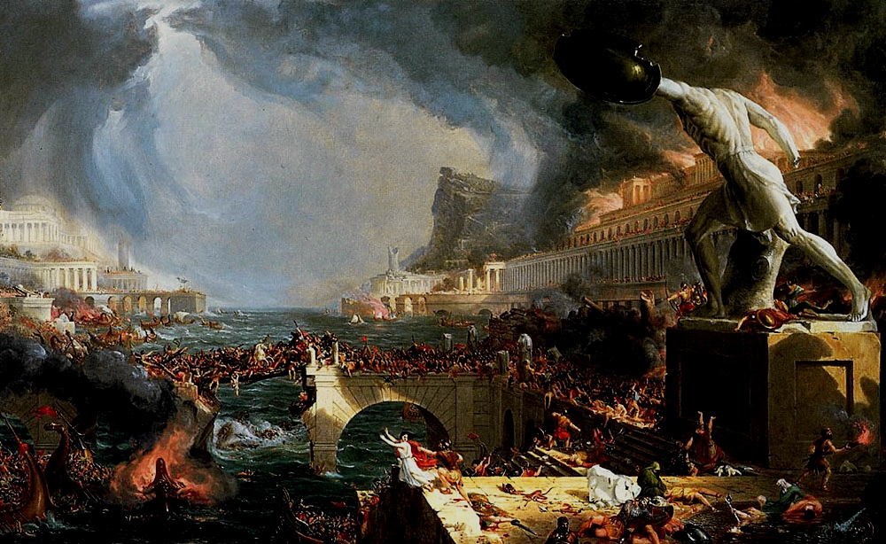 Destruction, Thomas Cole, 1836