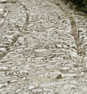 Roman road, Ambrussum, Via Domitia, France