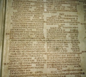 Fasti - list of consuls, Capitoline Museum, Rome (Author photo)