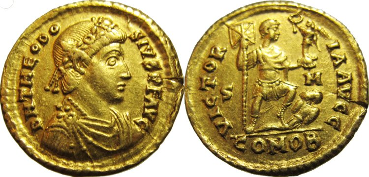 Gold solidus of Theodosius I