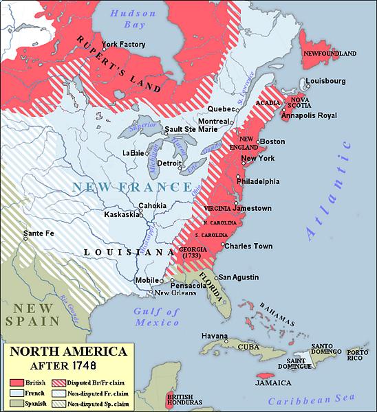 Map of North America 1748