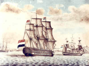 Dutch sailing ship circa 1813