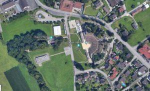 Augusta Raurica (Kaiseraugst, Google Maps extract)