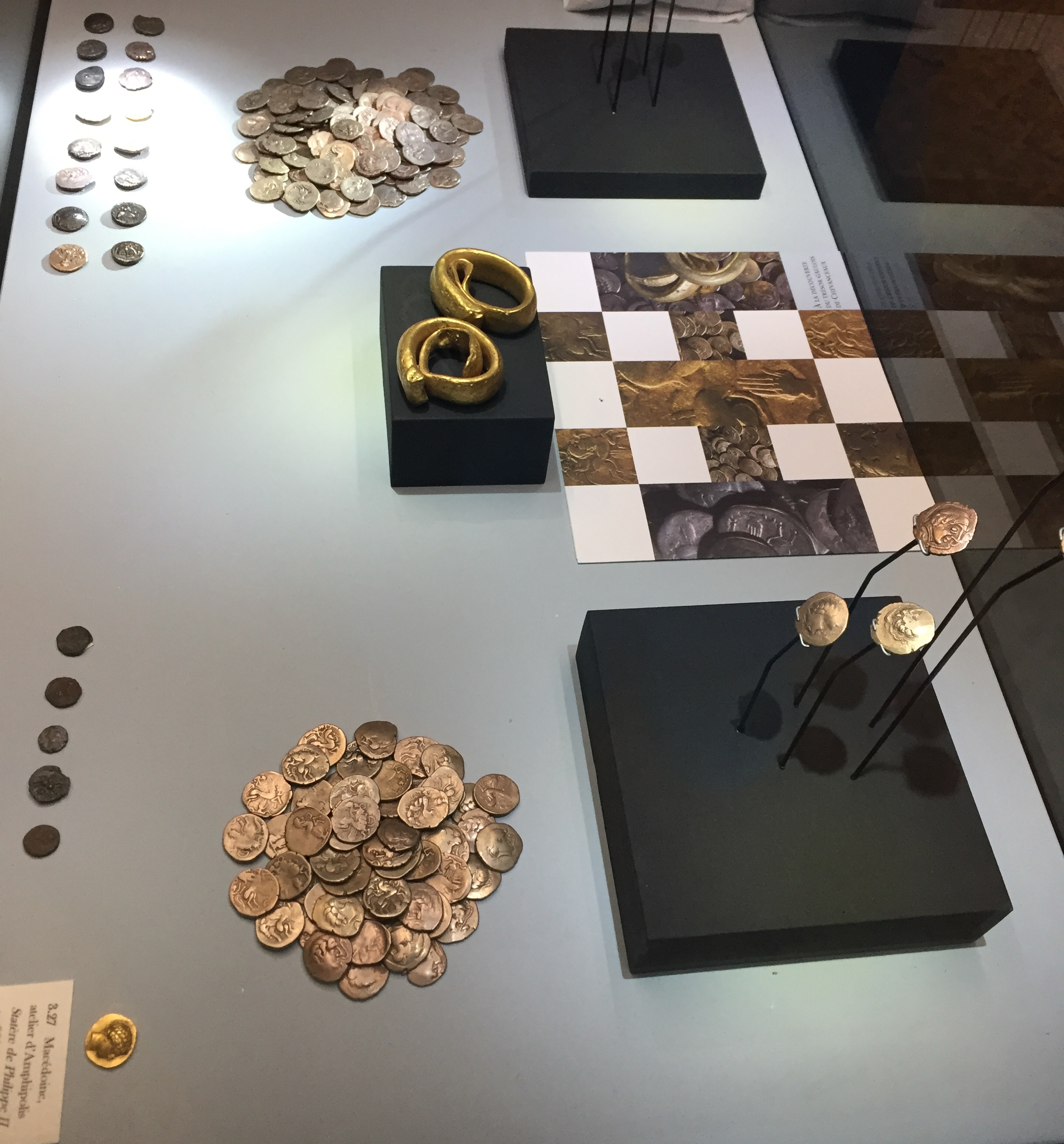 Pre-Roman gold, brass and bronze staters and gold curled ingots 4th-1st century BC