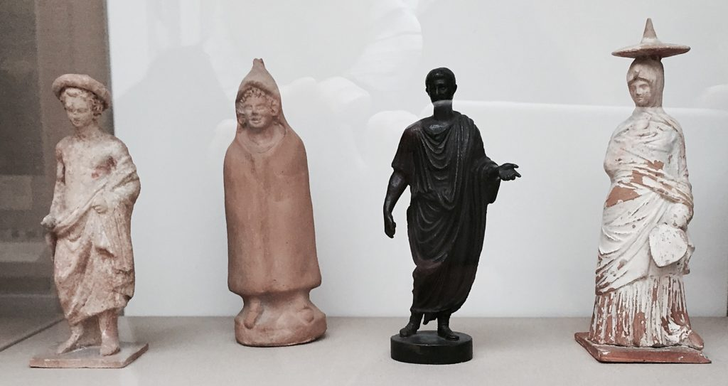 Pottery and bronze figurines 3rd century BC and 1st century AD - sigillaria?