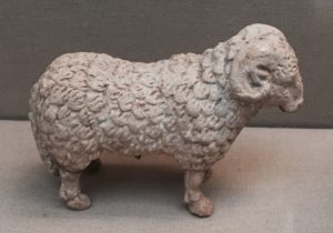 Terracotta sheep, Greek, 4th century BC. (British Museum) Would make a lovely sigillarium!