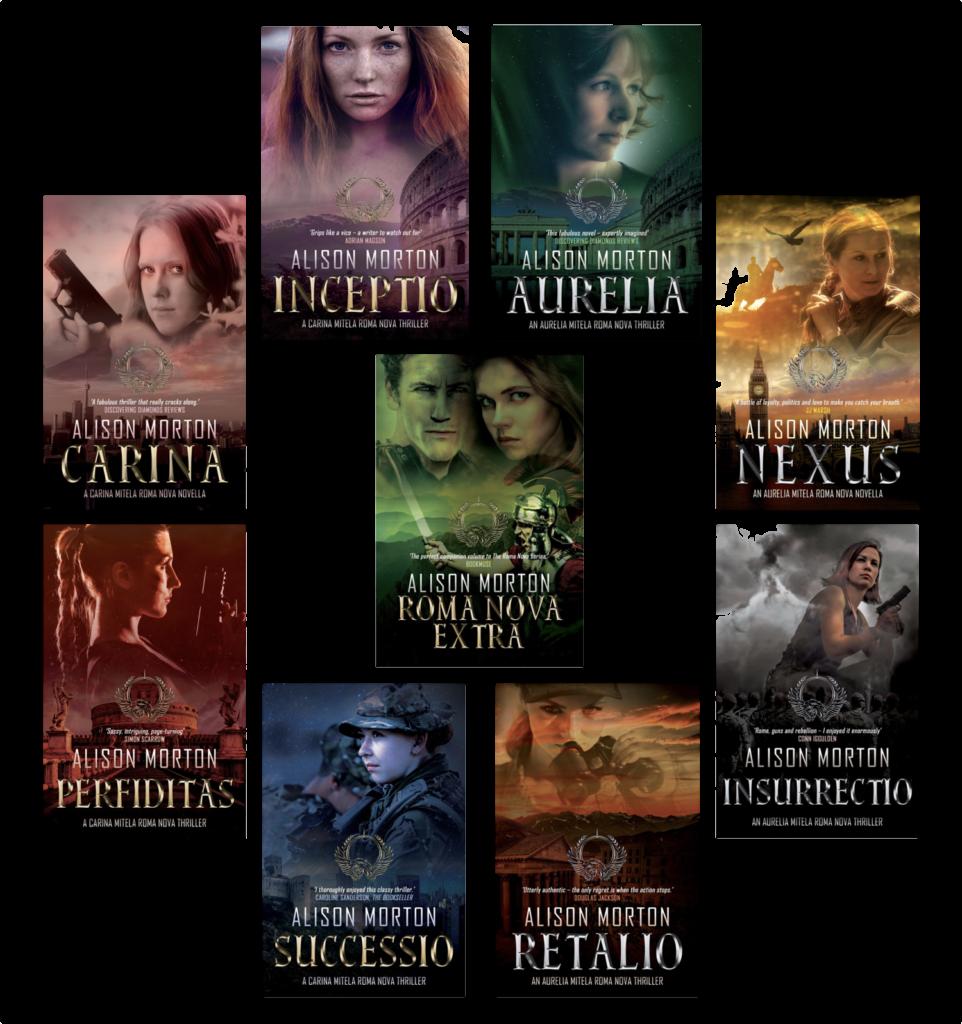 Roma Nova book covers