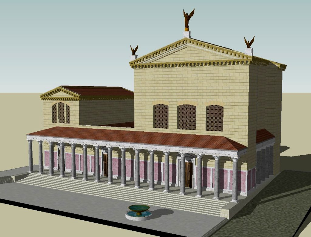 Computer generated image of the Curia Julia by the model maker, Lasha Tskhondia