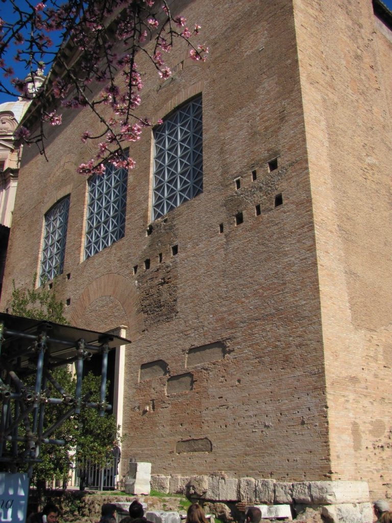 Curia Julia, front entrance (Author photo)